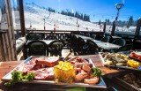Hotel La Croix Blanche - Les Gets - altitude restaurant with terrace on the slopes