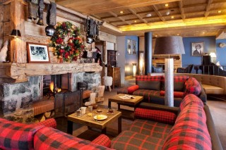 The lounge and the fire place