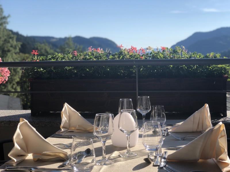 Hotel-Alpina-terrasse-restaurant-location-appartement-chalet-Les-Gets