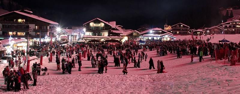 Hotel-Bellevue-front-de-neige-hiver-location-appartement-chalet-Les-Gets