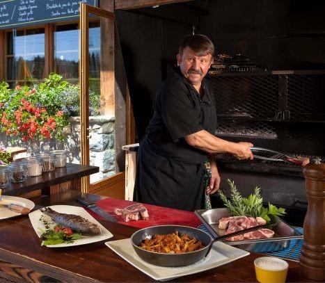 Hotel La Croix Blanche - Les Gets - restaurant d'altitude - pause grillades