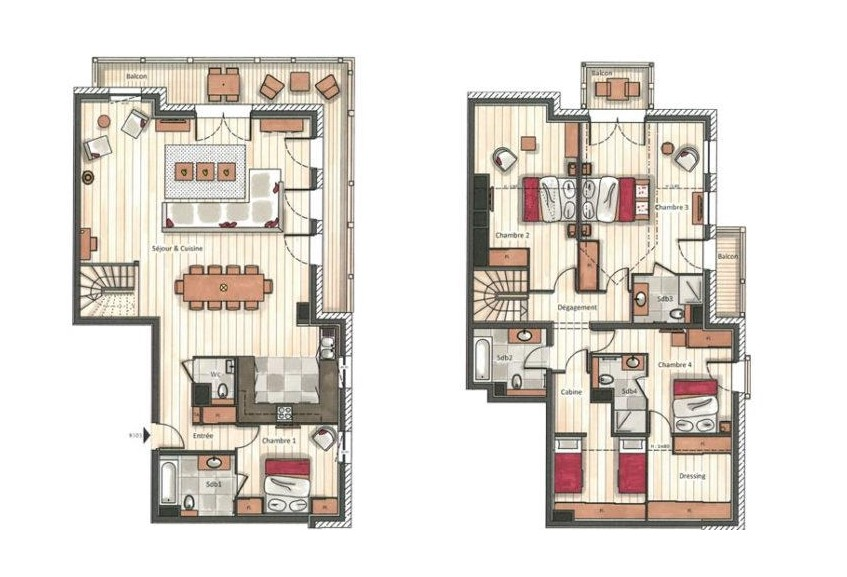 Annapurna-B303-plan-location-appartement-chalet-Les-Gets