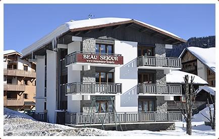 Beau-Sejour-3-exterieur-hiver1-location-appartement-chalet-Les-Gets