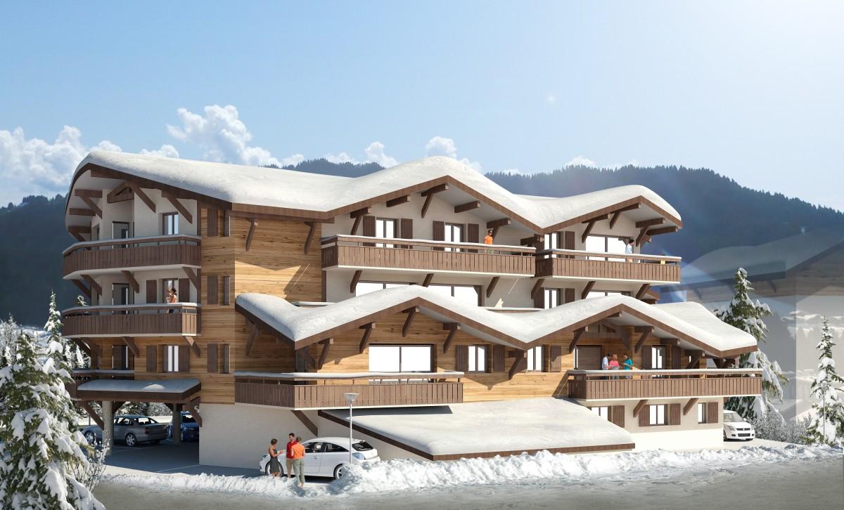 Cristal-2-exterieur-hiver-location-appartement-chalet-Les-Gets