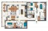 Annapurna-B203-plan-location-appartement-chalet-Les-Gets