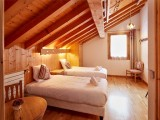 Cognee-chambre-lits-simples-location-appartement-chalet-Les-Gets