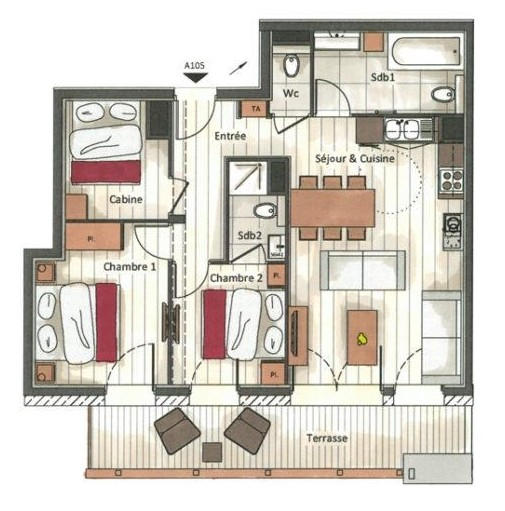 Annapurna-A105-plan-location-appartement-chalet-Les-Gets