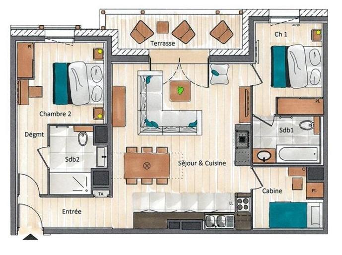 Annapurna-A204-plan-location-appartement-chalet-Les-Gets