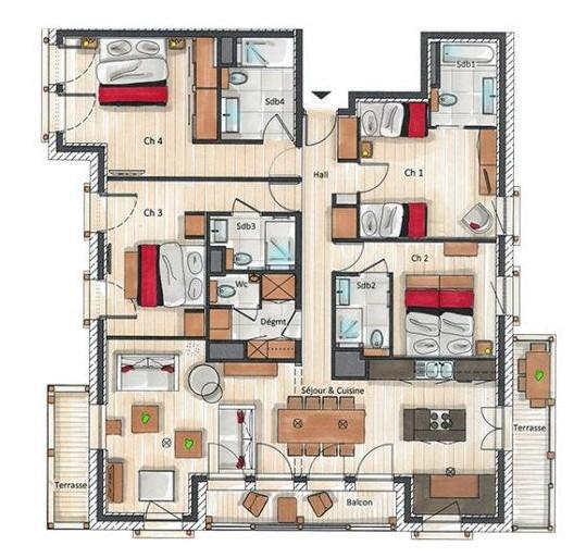 Annapurna-A301-plan-location-appartement-chalet-Les-Gets