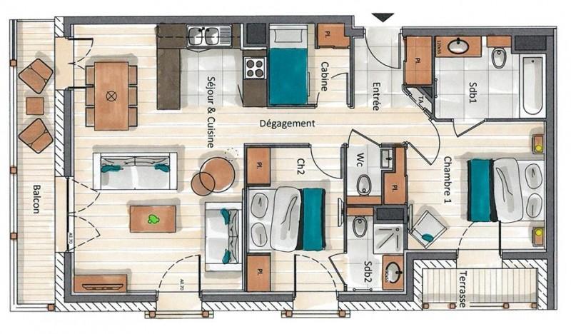 Annapurna-B104-plan-location-appartement-chalet-Les-Gets