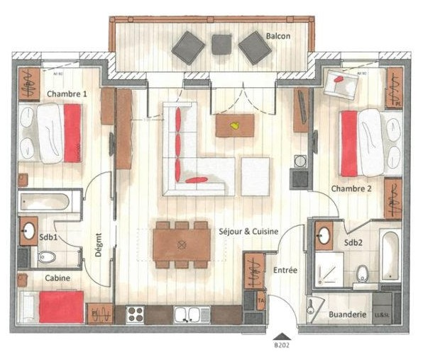 Annapurna-B202-plan-location-appartement-chalet-Les-Gets