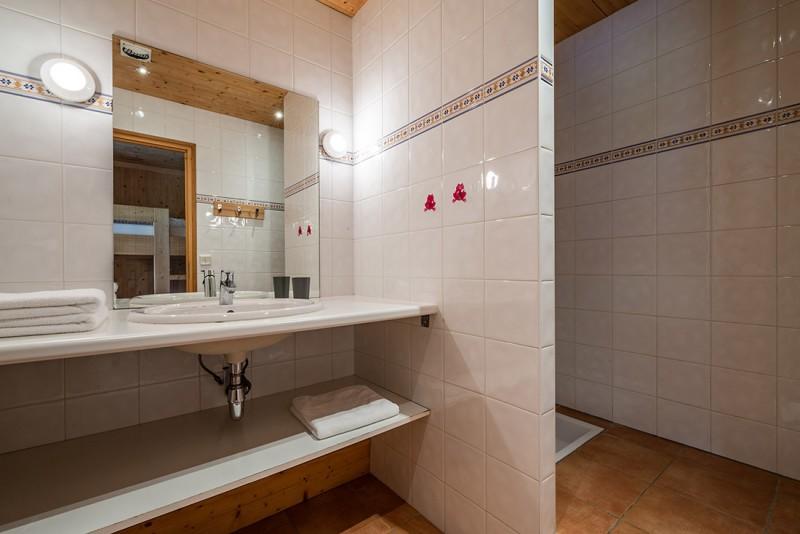 Arolle-Bouquetin-salle-de-bain-douche-location-appartement-chalet-Les-Gets