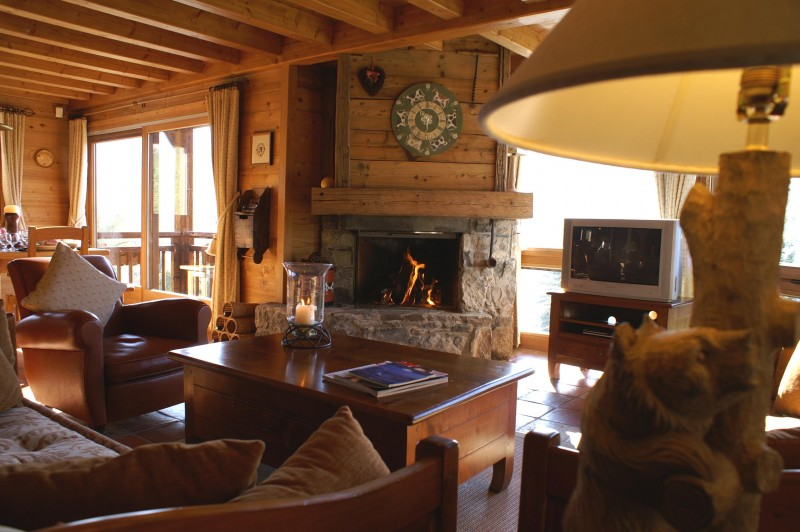 Camomille-salon-cheminee-location-appartement-chalet-Les-Gets