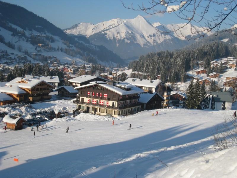 Caribou-1-vue-hiver-location-appartement-chalet-Les-Gets
