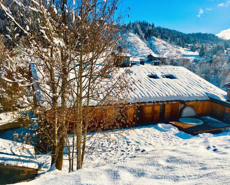 Chaumiere-2-4pieces-6personnes-vue-hiver-location-appartement-chalet-Les-Gets