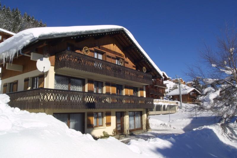 Fauvettes-3-Mont-Chery-exterieur-hiver1-location-appartement-chalet-Les-Gets
