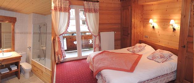 Sabaudia-2-pieces-alcove-4/5personnes-chambre-double-sdb-location-appartement-chalet-Les-Gets