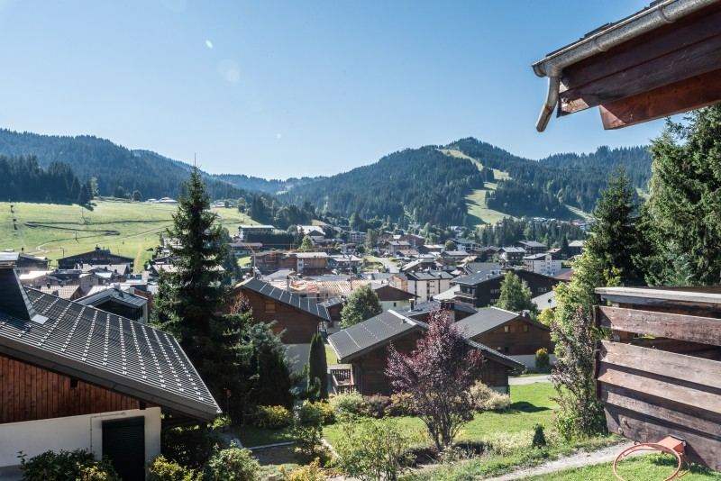 Telemark-vue-exterieur-location chalet appartement Les Gets